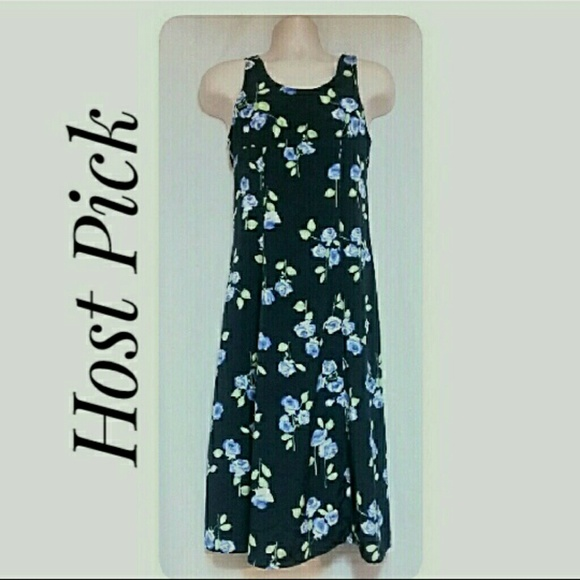 Unbranded Other - Young Lady's Summer Maxi-Dress Navy Floral